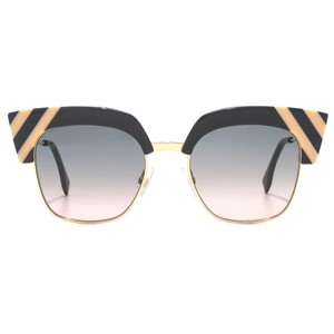 Fendi NEW Fendi 0241/S Wave Sunglasses Cat Eye in Grey Pink