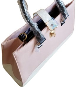 Nila Anthony Never Used Gold Hardware Tote in Pink, black, and white.