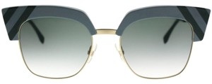Fendi NEW Fendi 0241/S Waves Blue Green Cat Eye Sunglasses