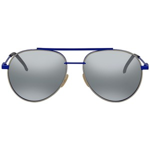 Fendi NEW Fendi 0222/S Air Blue Silver Mirrored Aviator Sunglasses