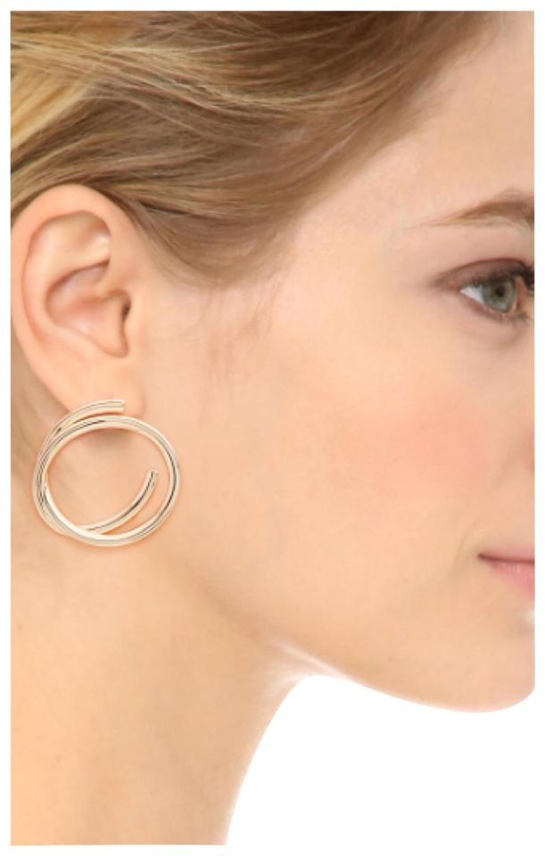 Elizabeth And James Gold Connolly Hoop Earrings