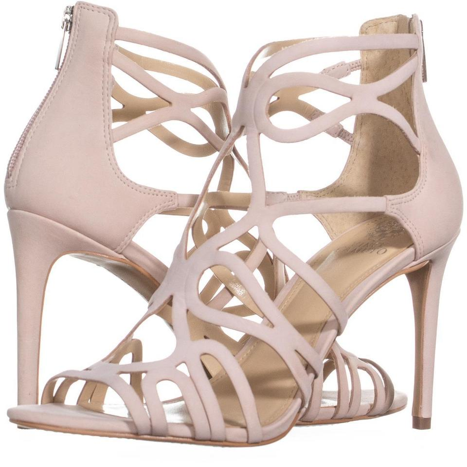 Vince Camuto Pink Lorrana Peep Toe Heeled Sandals Eu 703 Blush / 40 Eu Sandals Pumps 1d0514