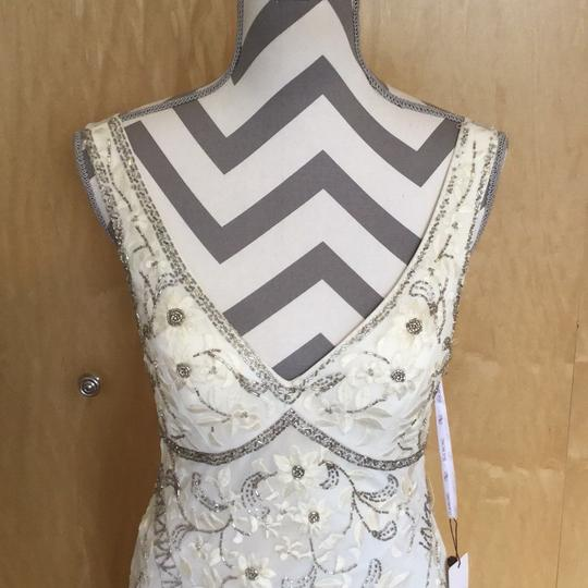 Sue Wong Ivory Nylon Polyester N1118 Antique Embroidered Gown Vintage Wedding Dress Size 6 (S)