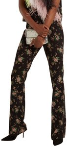 MSGM Straight Pants black w nude pink green