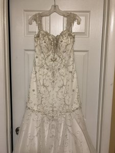 Alfred Angelo Ivory Disney Fairy Tale Princess Tiana Formal Wedding Dress Size 8 (M)