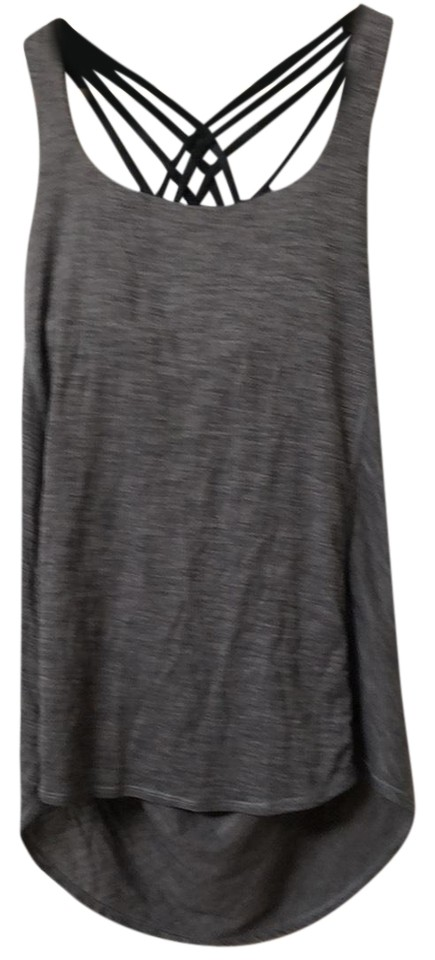 dcdf4a4fdc8d2 Lululemon Gray Crisscross Tank with Built In Bra Activewear Top Size ...