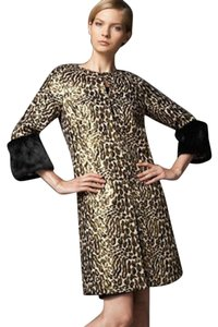 Tory Burch Animal Print Trench Coat