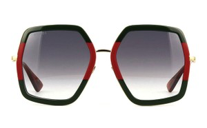 6e8a64eb8 Gucci Oversized Style GG0106S 007 - FREE 3 DAY SHIPPING Extra Large. Gucci  Red   Green   Gold ...