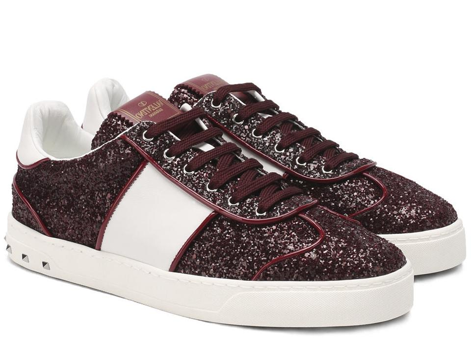 Sneakers Women's In Glitter Valentino Sneakers Burgundy z8TwXw