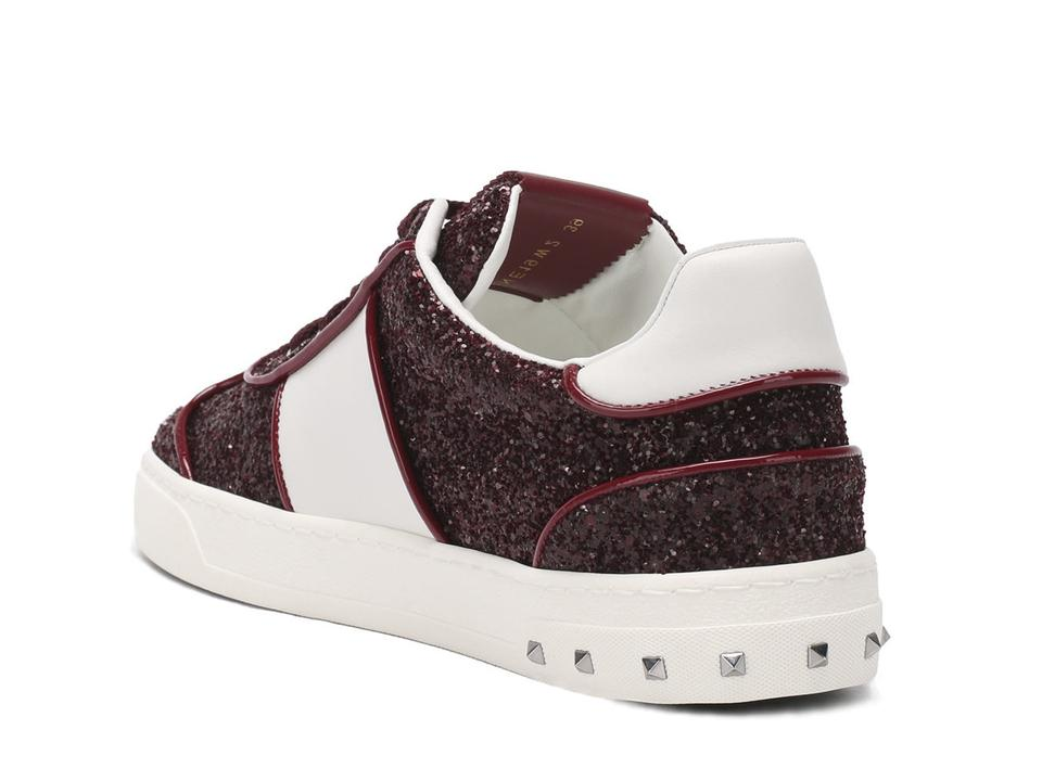 Sneakers In Valentino Burgundy Sneakers Women's Glitter qvRR0Px