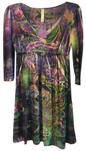 S-Twelve short dress Multi-colored Sequin Polyester Rayon on Tradesy