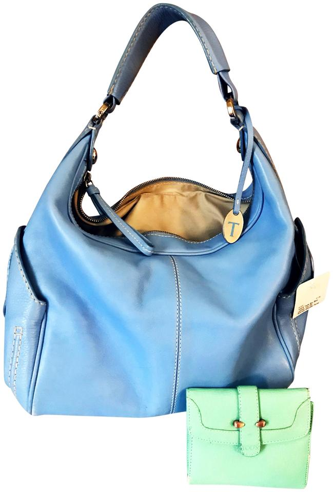 61fe007701ba Tod s And Tiffany Blue Wallet Periwinkle Leather Hobo Bag - Tradesy