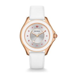 Michele NWT Cape Sunray Dial White Silicone watch MWW27A000004