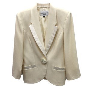 Albert Nipon Cream Blazer