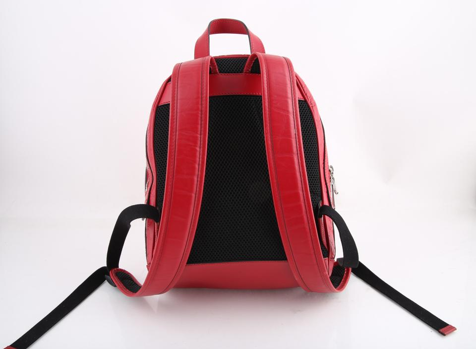 8c56904573e1 Gucci Signature Hibiscus Red Leather Backpack - Tradesy