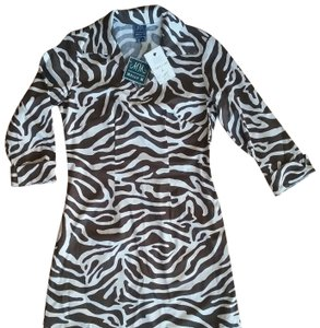 Melly M short dress Brown &White on Tradesy