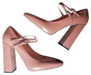 Rochas Maryjanes Chunky Buckle Sculptural Heels Mary Janes Moda Operandi Tan Pumps