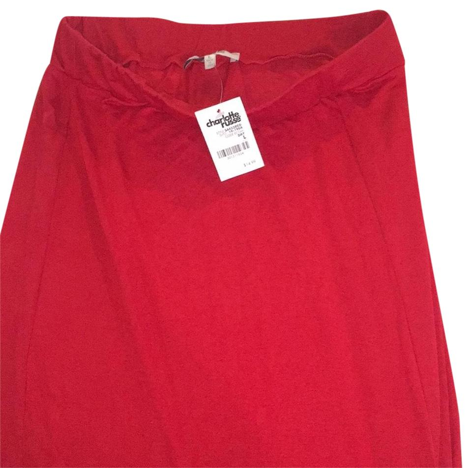 519f0d8f68 Charlotte Russe Red S4452red Skirt Size 12 (L, 32, 33) - Tradesy