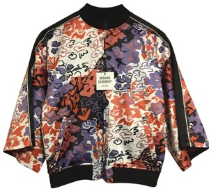 Opening Ceremony Bomber Varsity Fall To School Black and Multicolor Jacket