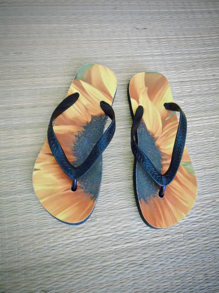 4074c2a9f6161 SouthernComfortArt Sunflower Flip Flops Flower Flip Flops Art Flip Flops  Nature Flip Flops Yellow Orange. 123456