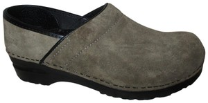 Sanita Suede Leather 002 gray Mules