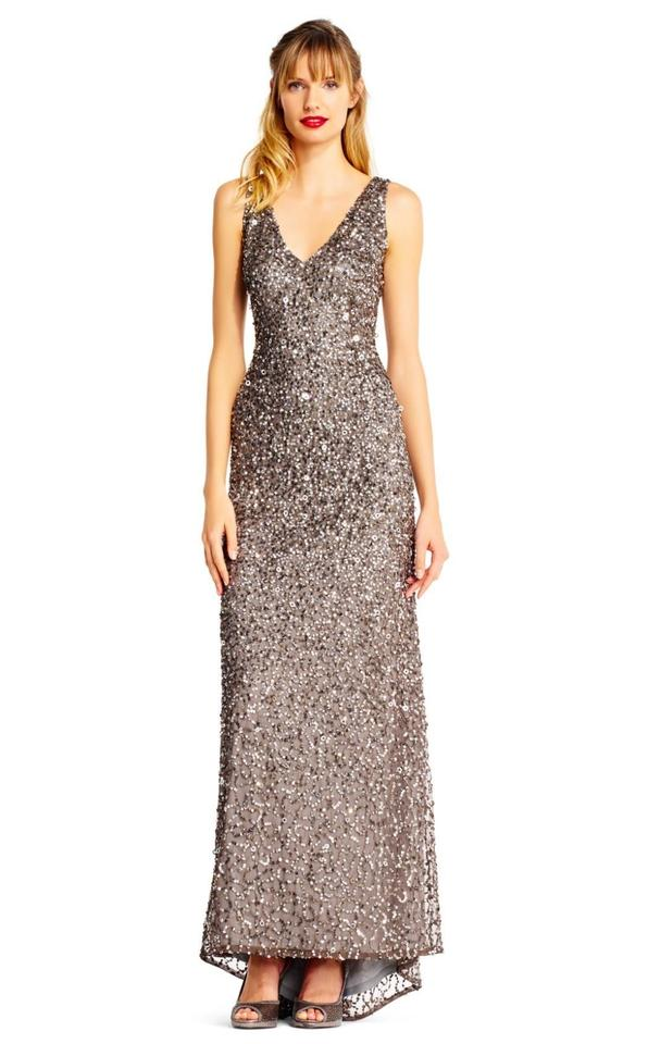 6bd78fa26b3 Adrianna Papell Lead Ap1e201867 Sleeveless Sequin Beaded Gown Formal Dress