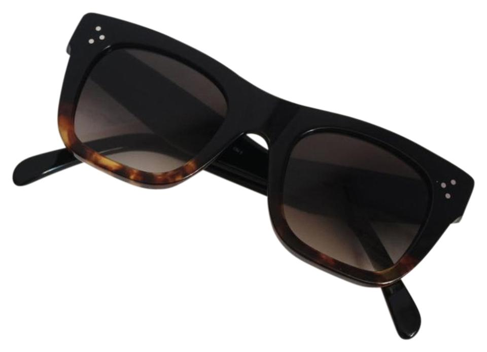 3e3a834a5c7 Céline Black Black Havana Catherine Cat-eye Sunglasses - Tradesy