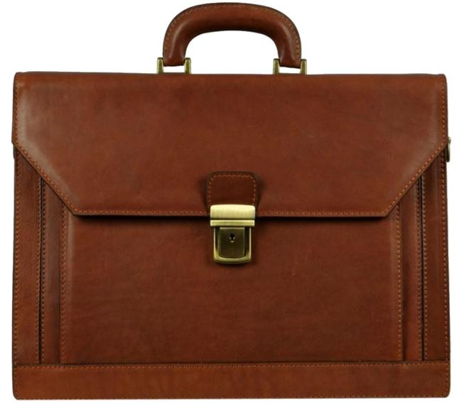 Item - Briefcase - Invisible Man Brown Calfskin Leather Laptop Bag