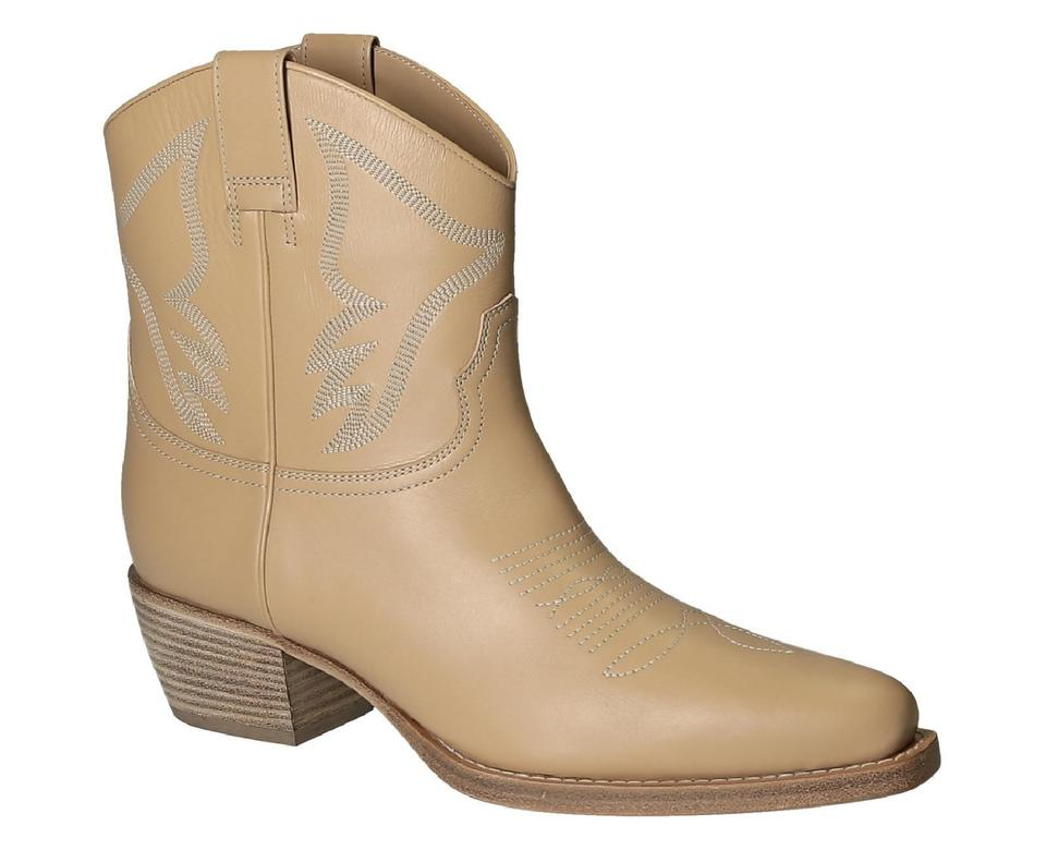 Women Nude Booties Western Boots Ankle Leather Valentino zWpq7dUwYz