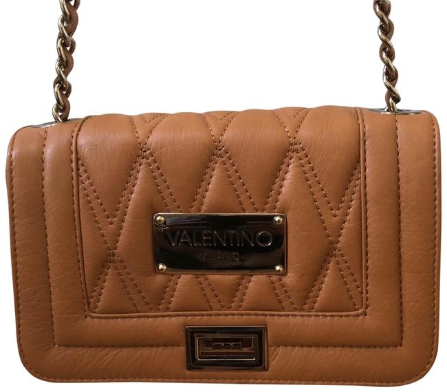 Item - Quilted Med Brown Leather Cross Body Bag