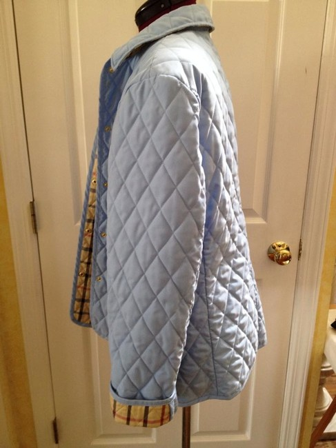 Brooks Brothers Quilted New Baby Blue Light Blue Jacket