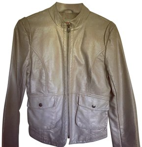 Bernardo creamish Leather Jacket