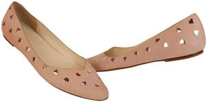 Marc Jacobs Classic Hearts Metal Stacked Nude Pink Flats