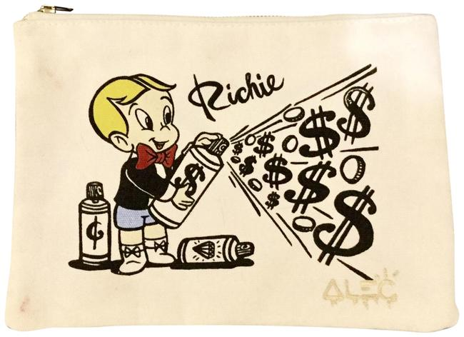 Item - Alec Monopoly Richie Rich Makeup Bag/Clutch Multicolor Canvas Clutch