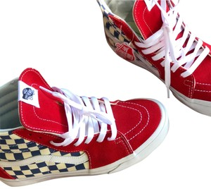 Vans red blue and white Athletic