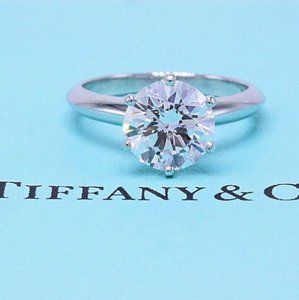 Tiffany & Co. D Vvs1 Round Brilliant Diamond 2.01 Cts Platinum Engagement Ring