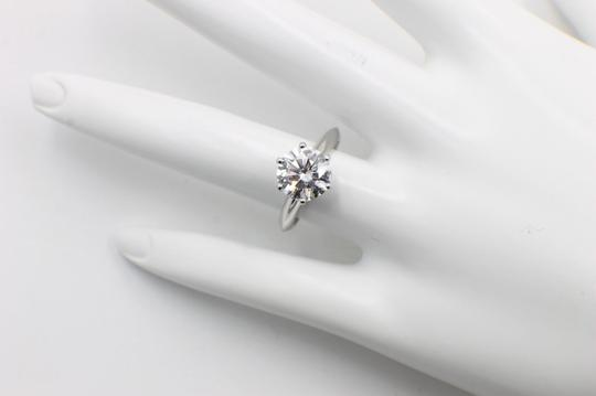Tiffany & Co. D Vvs1 Round Brilliant Diamond 2.01 Cts Platinum Engagement Ring Image 1