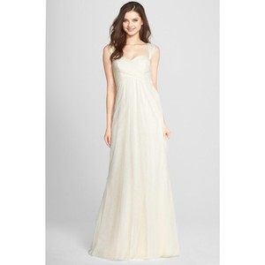 Jenny Yoo Ivory Willow Tulle Convertible Gown Feminine Bridesmaid/Mob Dress Size 12 (L)