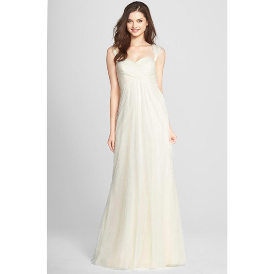 Jenny Yoo Ivory Willow Tulle Convertible Gown Feminine Bridesmaid ...