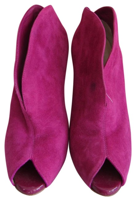Item - Magenta Heel Party Cocktail Ankle Boots/Booties Size US 5.5 Narrow (Aa, N)