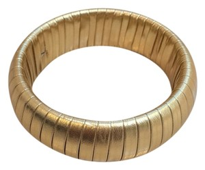 Other Gold Faux Leather Bangle Bracelet