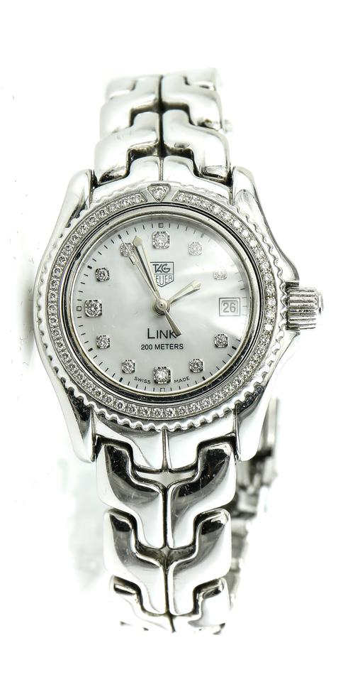 d92236abfd0 TAG Heuer Tag Heuer WT141J Diamonds Mother of Pearl Link Professional Ladies  Wa Image 0 ...