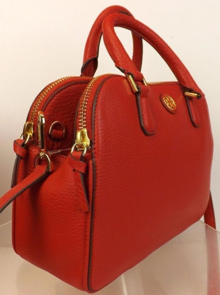 Tory Shoulder Red Kir Pebbled Bag Robinson Satchel Royal Zip Leather Metal Burch 2x OUqOBf4