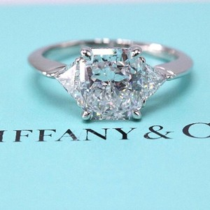 Tiffany & Co. D Vs1 Radiant Diamond 3.03 Tcw Platinum Certificates Engagement Ring