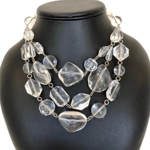 Ben-Amun clear-lucite layered necklace