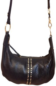 Bueno Collection Extra Large Black Dark Brown Faux Leather Hobo Bag ... 29683aeeef992