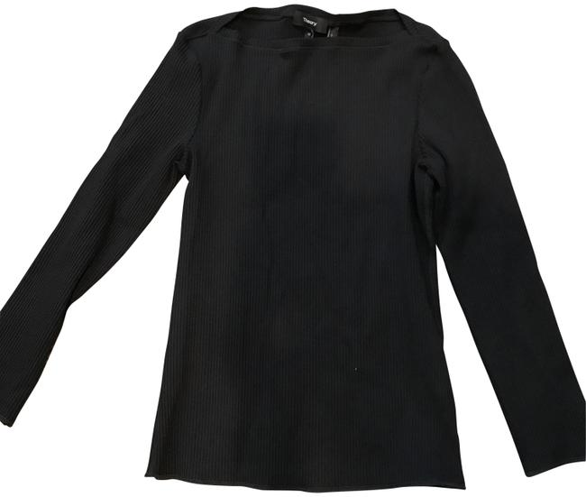 Preload https://item1.tradesy.com/images/theory-black-boat-neck-ribbed-longsleeve-blouse-size-8-m-23917065-0-1.jpg?width=400&height=650