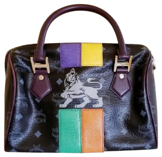 Preload https://img-static.tradesy.com/item/23917075/mcm-blackpurple-blackpurple-leather-satchel-0-2-540-540.jpg