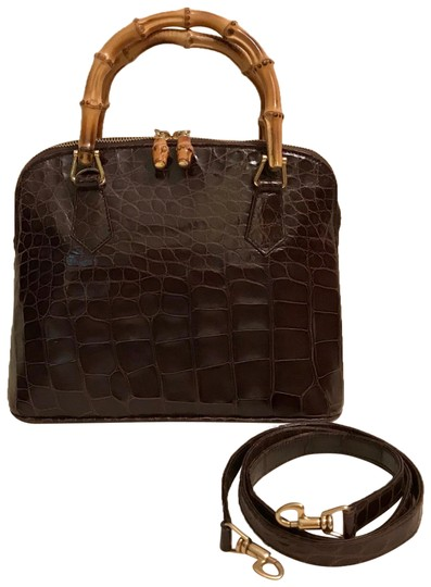 Preload https://item5.tradesy.com/images/gucci-with-bamboo-handles-brown-alligator-skin-leather-satchel-23917099-0-1.jpg?width=440&height=440