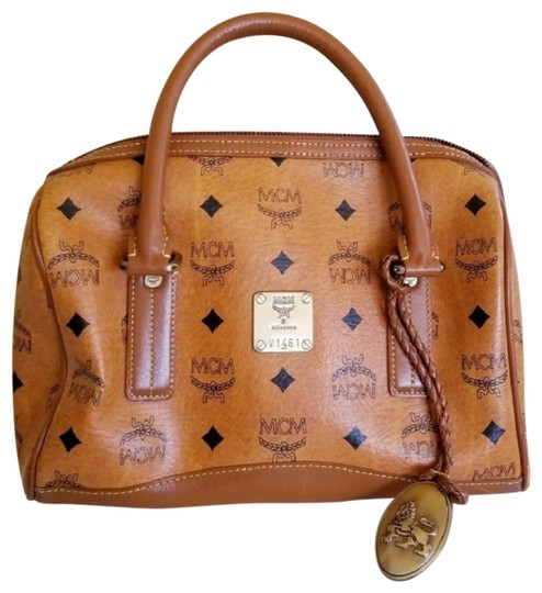 MCM Satchel in Brown